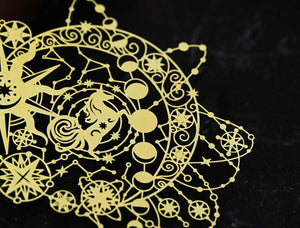 Filigree Bookmark Unicorn in the Universe