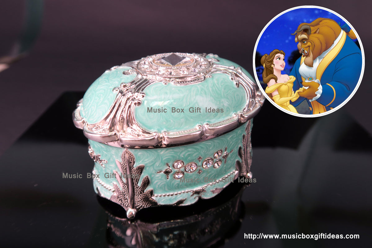 beauty and the beast jewelry music box 18