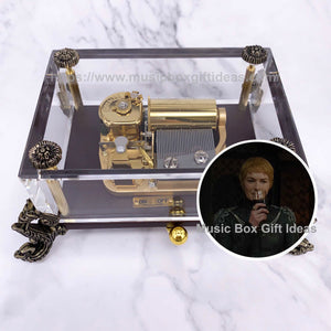 Game of Thrones Light of The Seven 30-Note Wind-Up Music Box Gift (Crystal) - Customization - Music Box Gift Ideas