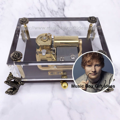 Ed Sheeran Perfect 30-Note Wind-Up Music Box Gift (Crystal) - Music Box Gift Ideas