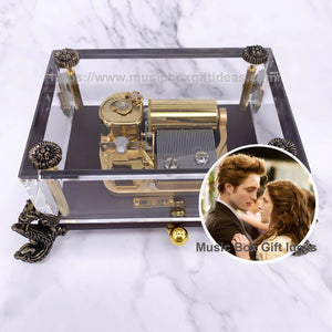 Twilight Flightless Bird American Mouth from Iron & Wine 30-Note Wind-Up Music Box Gift (Crystal) - Music Box Gift Ideas