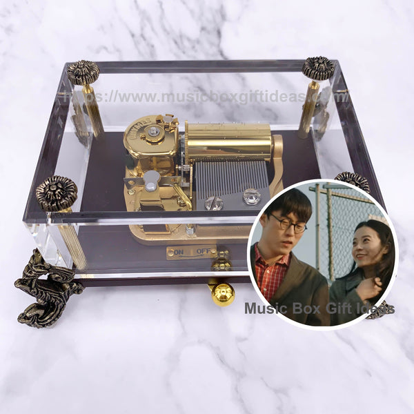 Jannabi For Lovers Who Hesitate 30-Note Wind-Up Music Box Gift (Crystal) - Music Box Gift Ideas