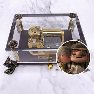 Disney Up Carl and Ellie Married Life 30-Note Wind-Up Music Box Gift (Crystal) - Music Box Gift Ideas