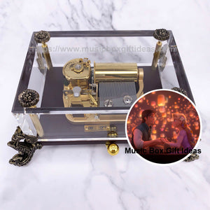 Tangled I See The Light 30-Note Wind-Up Music Box Gift (Crystal) - Music Box Gift Ideas