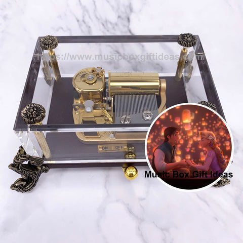 Tangled I See The Light 30-Note Wind-Up Music Box Gift (Glass) - Music Box Gift Ideas