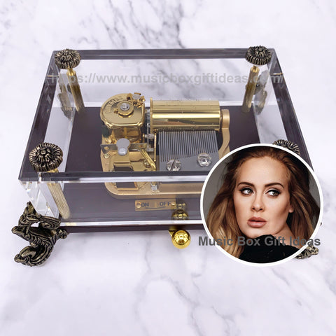 Adele Make You Feel My Love 30-Note Wind-Up Music Box Gift (Glass) - Music Box Gift Ideas