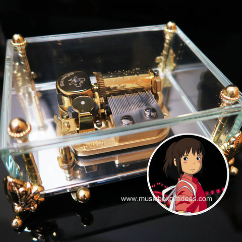 Spirited Away Always With Me from Studio Ghibli 30-Note Wind-Up Music Box Gift (Glass) - Music Box Gift Ideas