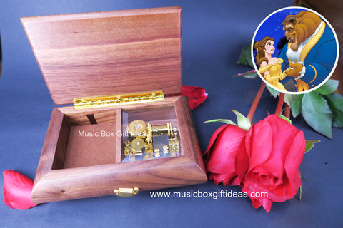 Disney Beauty and the Beast Soundtrack Tale As Old As Time 18-Note Music Jewelry Box Gift (Wooden) - Music Box Gift Ideas