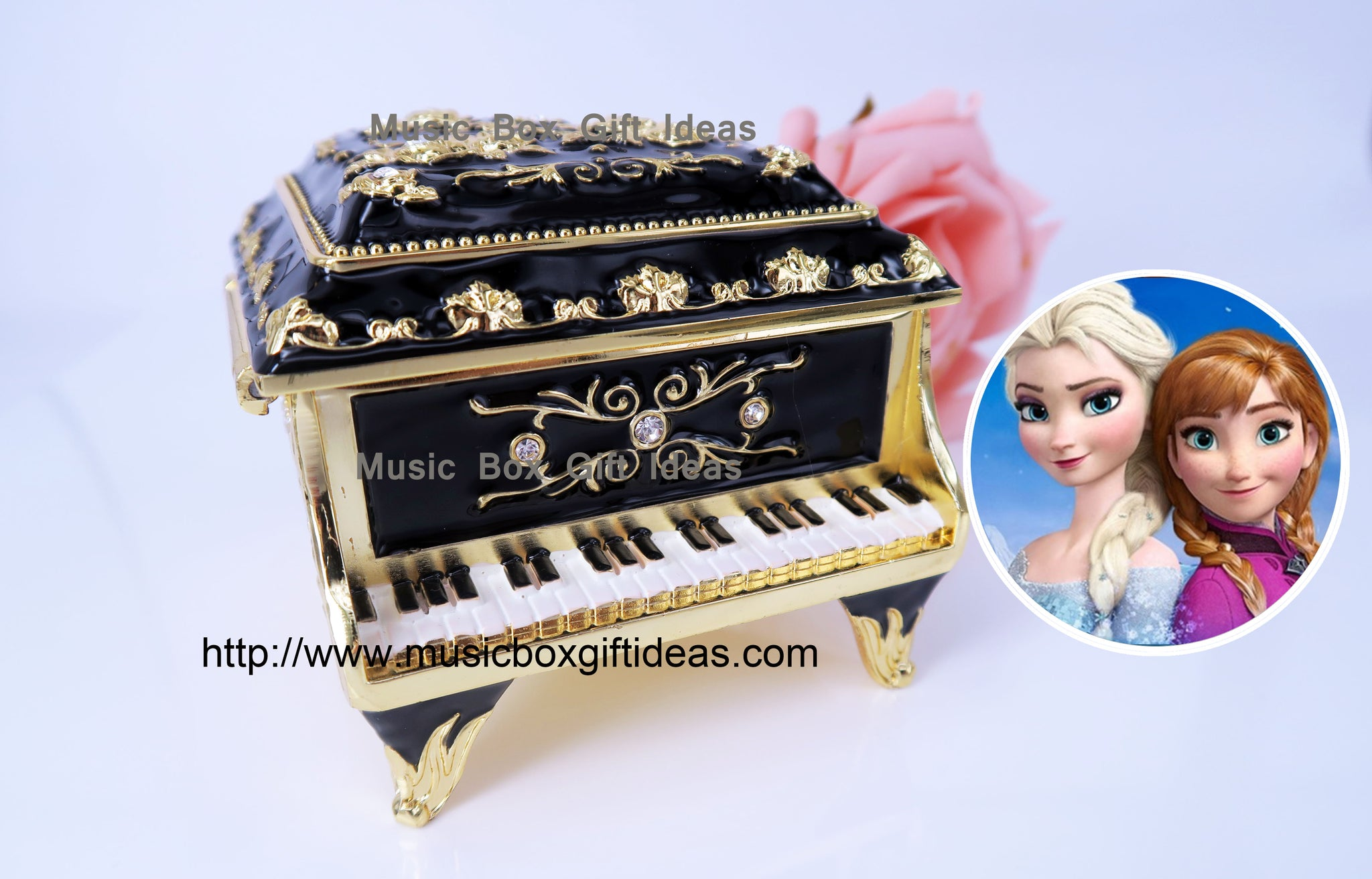 Piano Jewelry Music Box Frozen Let It Go Sankyo 18-Note Clockwork Gift - Music Box Gift Ideas