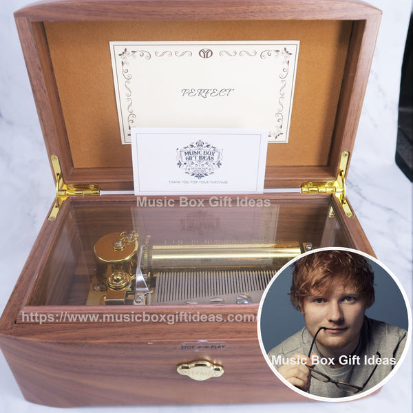 Ed Sheeran Perfect 50-Note Wind-Up Music Box Gift (Wooden) - Music Box Gift Ideas
