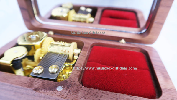 Case Closed Detective Conan Main Theme Soundtrack 18-Note Jewelry Music Box Gift (Wooden Clockwork) - Music Box Gift Ideas