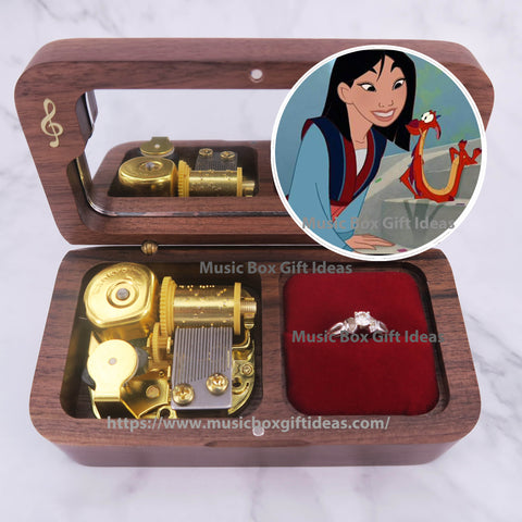 Disney Mulan Reflection 18-Note Jewelry Music Box Gift (Wooden Clockwork) - Music Box Gift Ideas