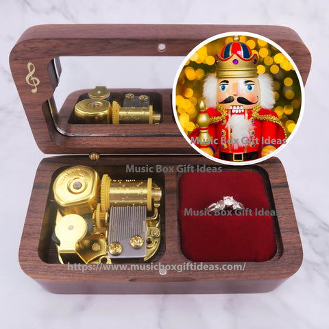 Disney Nutcracker Soundtrack Sugar Plum Fairy 18-Note Jewelry Music Box Gift (Wooden Clockwork) - Music Box Gift Ideas