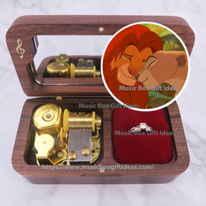 Disney The Lion King Can You Feel The Love Tonight 18-Note Jewelry Music Box Gift (Wooden Clockwork) - Music Box Gift Ideas