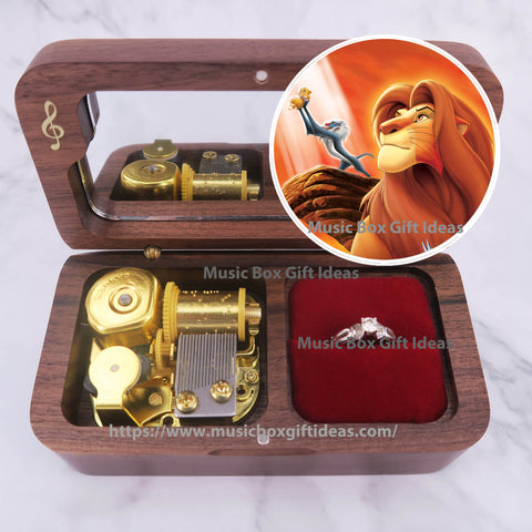 Disney The Lion King Circle of Life 18-Note Jewelry Music Box Gift (Wooden Clockwork) - Music Box Gift Ideas