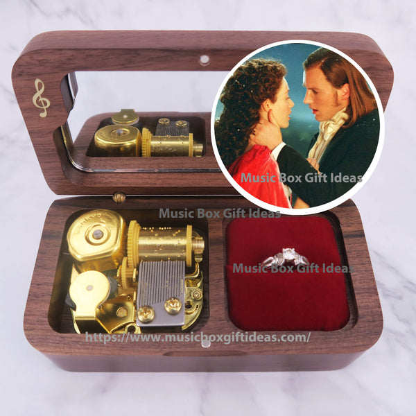 Musical The Phantom of the Opera All I Ask of You 18-Note Jewelry Music Box Gift (Wooden Clockwork) - Music Box Gift Ideas
