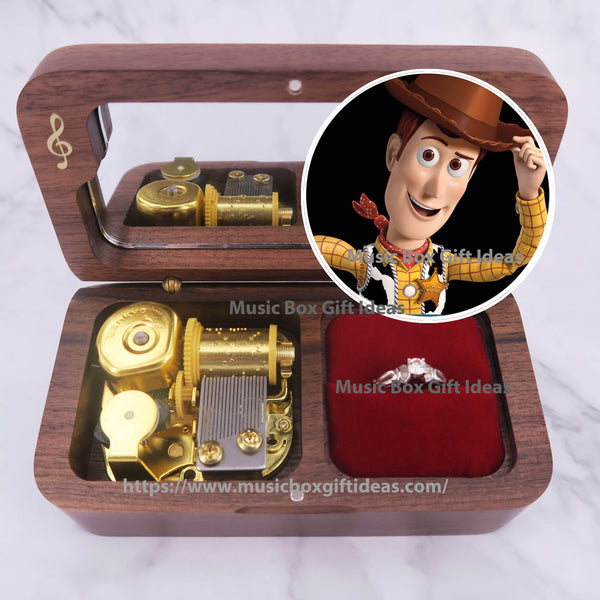 Disney Toy Story Soundtrack You've Got a Friend 18-Note Jewelry Music Box Gift (Wooden Clockwork) - Music Box Gift Ideas