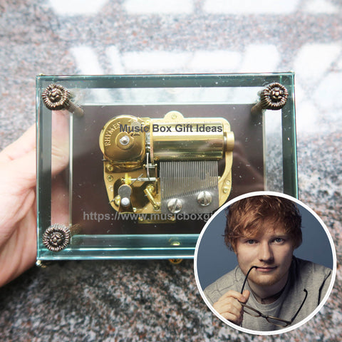 Ed Sheeran Perfect 30-Note Wind-Up Music Box Gift (Glass) - Music Box Gift Ideas