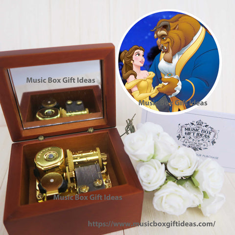 Disney Beauty and the Beast Tale As Old As Time 18-Note Music Box Gift (Wooden Clockwork) - Music Box Gift Ideas