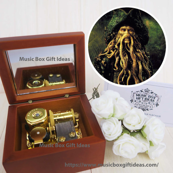 Davy Jones from Pirates of the Caribbean 18-Note Music Box Gift (Wooden Clockwork) - Music Box Gift Ideas