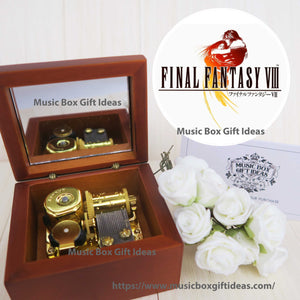 Final Fantasy Soundtrack Eyes On Me 18-Note Music Box Gift (Wooden Clockwork) - Music Box Gift Ideas