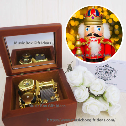 Disney Nutcracker Soundtrack Sugar Plum Fairy 18-Note Music Box Gift (Wooden Clockwork) - Music Box Gift Ideas