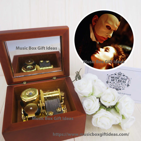 Musical The Phantom of the Opera Theme Soundtrack 18-Note Music Box Gift (Wooden Clockwork) - Music Box Gift Ideas