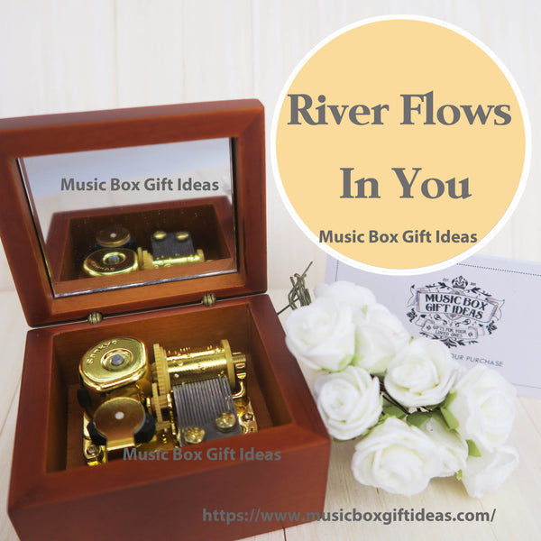 Soundtrack River Flows In You by Yiruma 18-Note Music Box Gift Twilight (Wooden Clockwork) - Music Box Gift Ideas