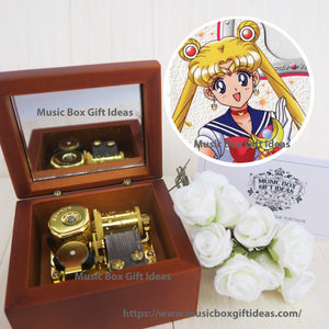 Sailor Moon Bishoujo Senshi Soundtrack Moon Light Densetsu 18-Note Music Box Gift (Wooden Clockwork) - Music Box Gift Ideas