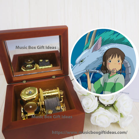 Spirited Away One Summer's Day from Studio Ghibli 18-Note Music Box Gift (Wooden Clockwork) - Music Box Gift Ideas
