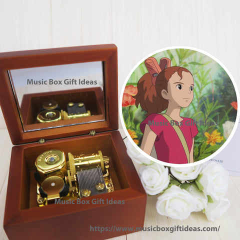 The Secret World of Arrietty Summertime from Studio Ghibli 18-Note Music Box Gift (Wooden Clockwork) - Music Box Gift Ideas