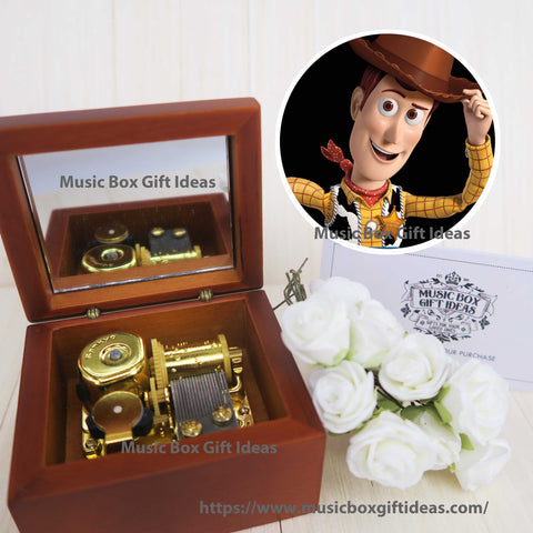 Disney Toy Story Soundtrack You've Got a Friend in Me 18-Note Music Box Gift for Friends Graduation (Wooden Clockwork) - Music Box Gift Ideas