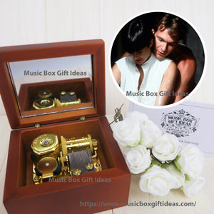 Unchained Melody from Ghost Soundtrack 18-Note Music Box Gift (Wooden Clockwork) - Music Box Gift Ideas