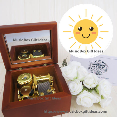You Are My Sunshine Sankyo 18-note Windup Music Box Gift for Girls / Children - Music Box Gift Ideas