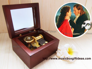 Musical The Phantom of the Opera All I Ask of You 18-Note Music Box Gift (Wooden Clockwork) - Music Box Gift Ideas