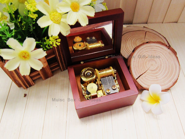 Movie Soundtrack Titanic My Heart Will Go On Celin Dion 18-Note Music Box Gift (Wooden Clockwork) - Music Box Gift Ideas