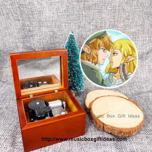 The Legend of Zelda Theme Song 18-Note Wooden Windup Music Box - Music Box Gift Ideas