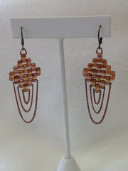 Brick & Chain Earrings