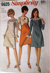 Simplicity 6625 Women's 60s A-Line One Piece Dress Sewing Pattern Bust 34 - Great Sewing Patterns - 1