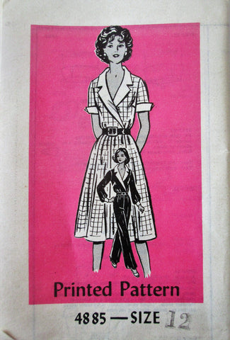 Anne Adams 4885 Women's 70s Two Piece Dress or Pants Sewing Pattern Bust 34 - Great Sewing Patterns - 1