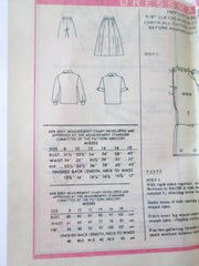 Anne Adams 4885 Women's 70s Two Piece Dress or Pants Sewing Pattern Bust 34 - Great Sewing Patterns - 4