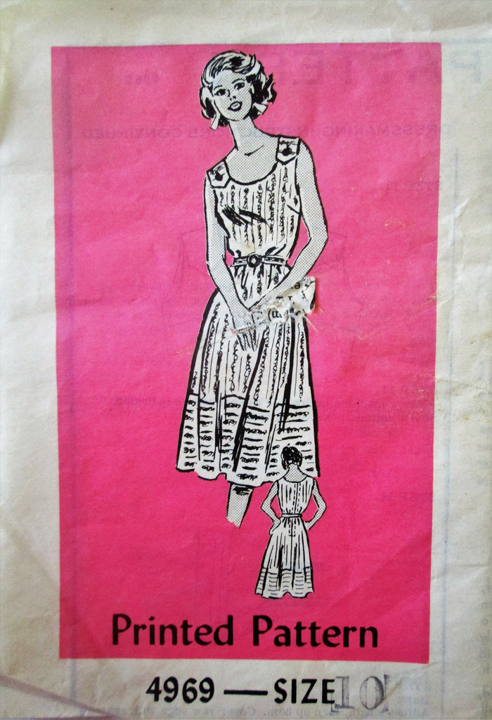 Mail Order 4969 Women's 60s Summer Dress Sewing Pattern Size 10 Bust 32.5 - Great Sewing Patterns - 1