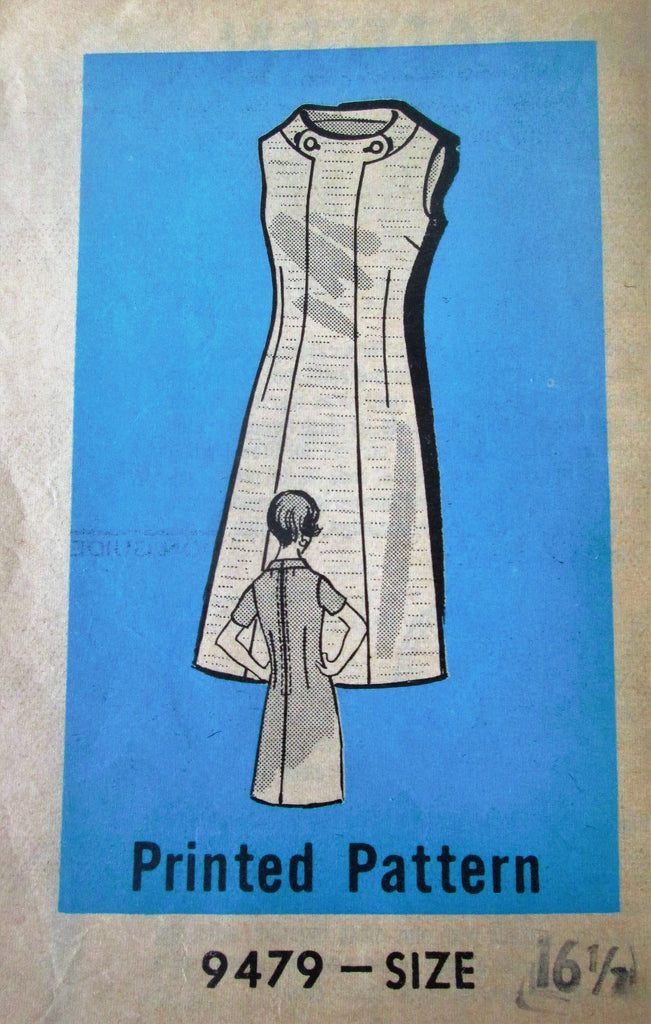 Mail Order 9479 Women's 70s Mini Dress Sewing Pattern Size 16.5 Bust 37 - Great Sewing Patterns - 1