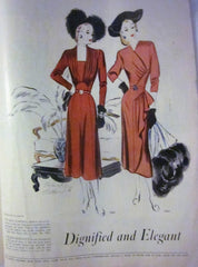 McCall's Vintage Magazine November 1947 - Great Sewing Patterns - 9
