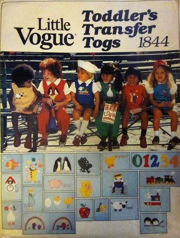 Vogue 1844 Child's Jumper, Jumpsuit, Bloomers, Blouse & Shirt Sewing Pattern with Transfers Size 1 - 3 - Great Sewing Patterns - 1