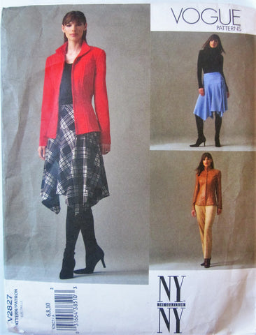 Vogue 2827 NYNY Collection Women's 2000s Jacket, Skirt and Pants Sewing Pattern Bust 30 to 32 - Great Sewing Patterns - 1