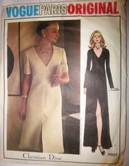 Vogue Paris Original 2607 Christian Dior A-Line  70s Evening or Knee Length Dress Sewing Pattern Bust 31 1/2 - Great Sewing Patterns - 2
