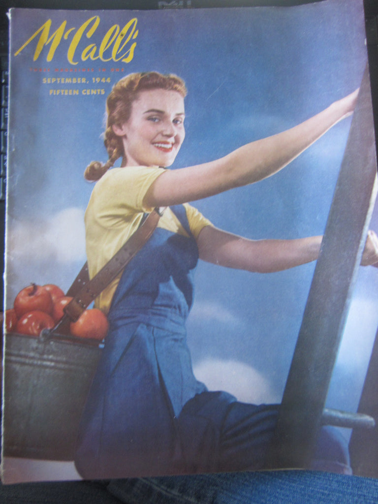 McCall's Vintage Magazine September 1944 - Great Sewing Patterns - 1