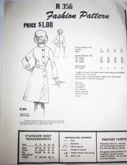 Fashion Pattern R 356 Women's 70s Buttoned Band Dress Sewing Pattern Bust 34 - Great Sewing Patterns - 1
