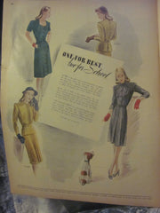 McCall's Vintage Magazine September 1944 - Great Sewing Patterns - 10